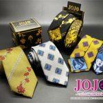 ジョジョの奇妙な冒険 黄金の風モチーフの新作ネクタイ&タイピン&スーツ登場!詳細と通販先。