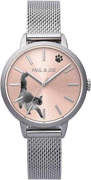 ポール & ジョー インク キャット腕時計シルバー