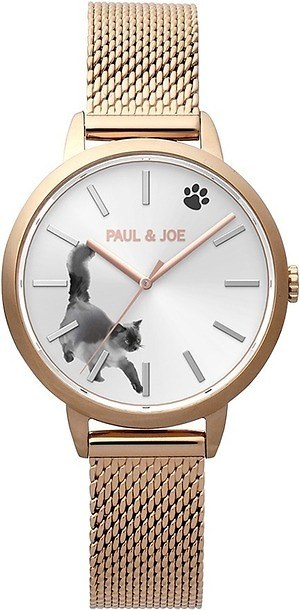 ポール & ジョー インク キャット腕時計ピンクゴールド